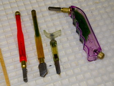 various handles on glass cutters - How To Cut Glass